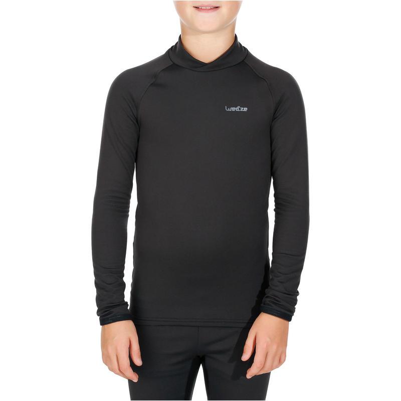 Sous-vêtement de ski enfant Haut Freshwarm Noir