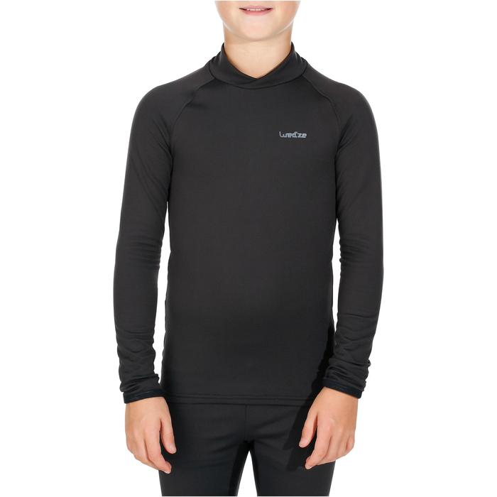 Thermoshirt kind wintersport Wed'ze Freshwarm zwart - kinderen