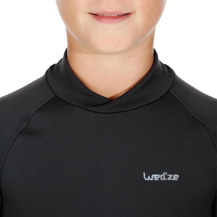 Camiseta térmica esquí y nieve interior Wed'ze Freshwarm niños negro