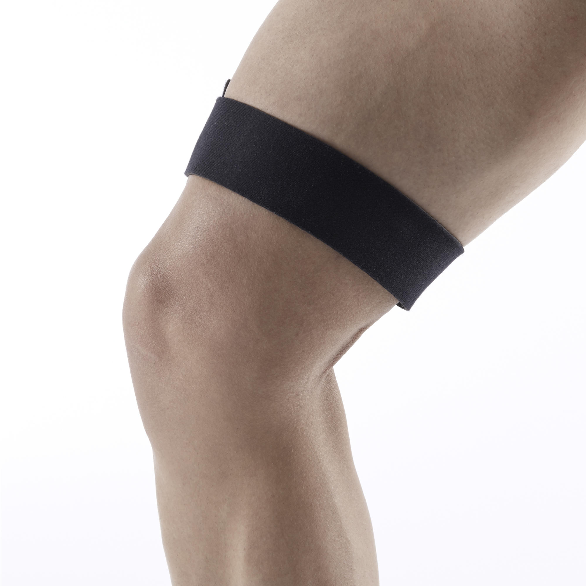 ITB Men's/Women's Left/Right Supportive Knee Strap - Black
