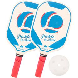 Set van 2 Pickleball paddles blauw