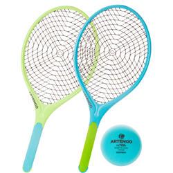 Set met 2 rackets en 1 bal Funyten blauw/groen