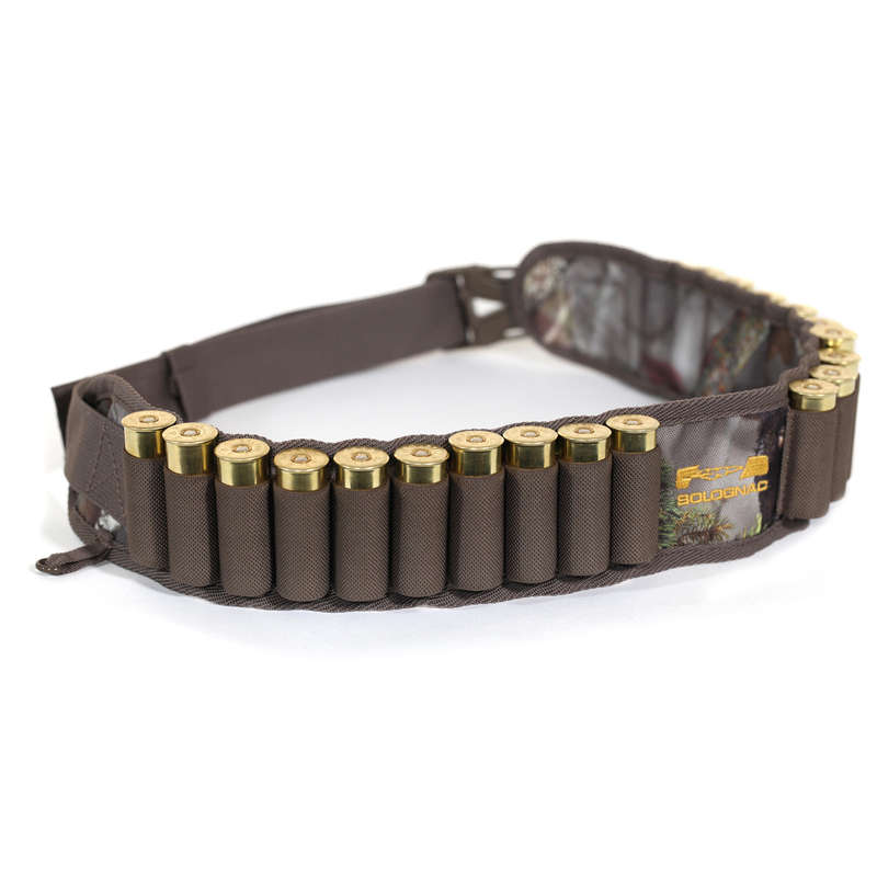 SMALL GAME SHOTGUN/AMMO TRANSPORT Shooting and Hunting - 12 GAUGE CARTRIDGE BELT CAMOUFLAGE SOLOGNAC - Hunting and Shooting Accessories