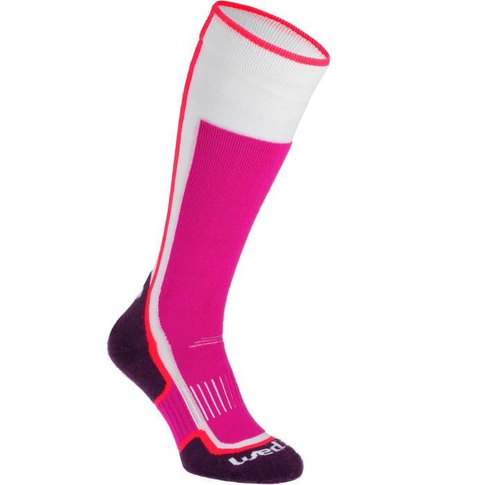 Skisokken 300 voor heren/dames roze