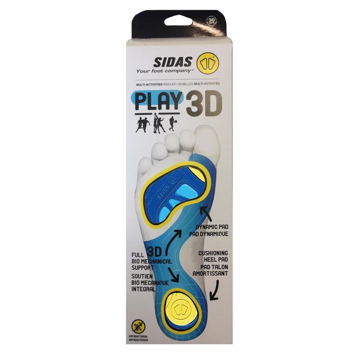 Semelles PLAY 3D SIDAS bleue - 1056717