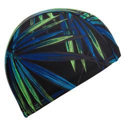 Gorro de natación punto estampado talla L Opi negro verde