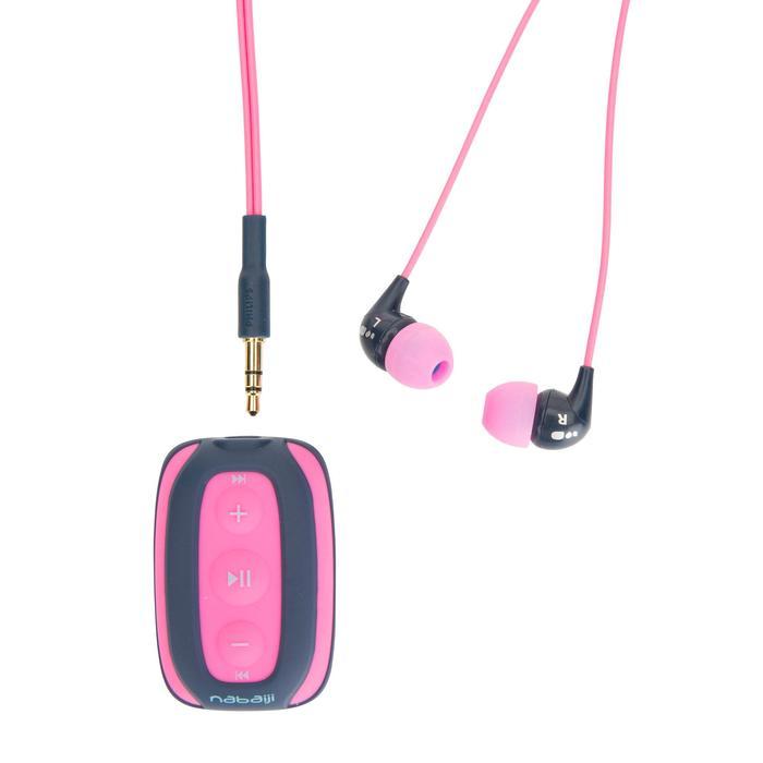 Reproductor MP3 estanco de natación SwimMusic 100 rosa