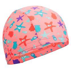 Mesh Print Swim Cap Size S - AllSia Pink