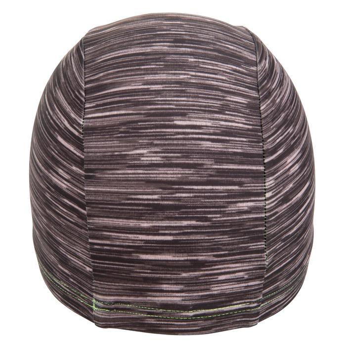 Stoffen badmuts met print maat L Wolly zwart