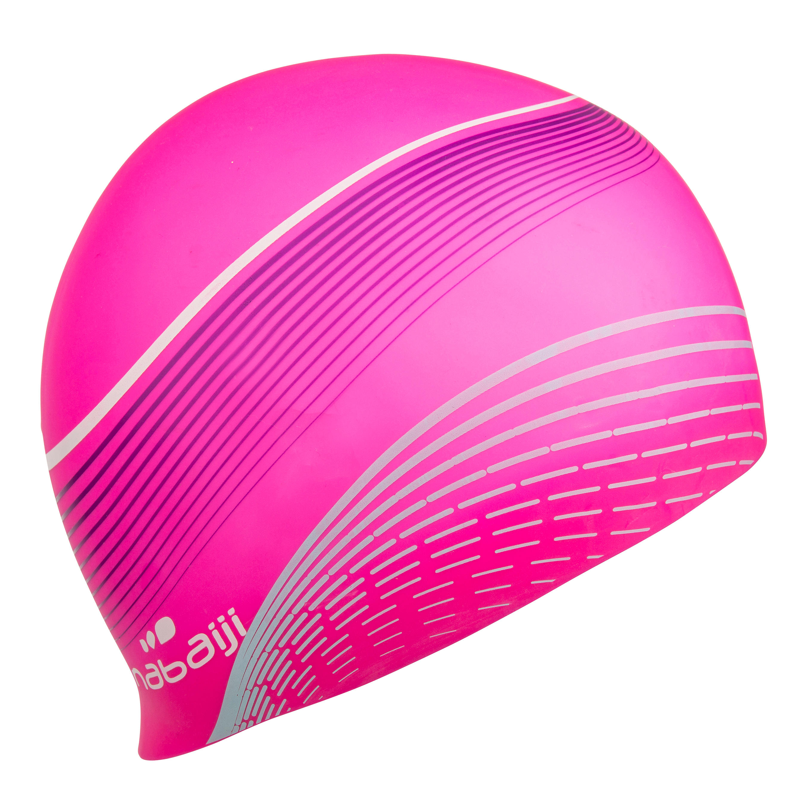 Swim Cap Silicone - Printed Pink
