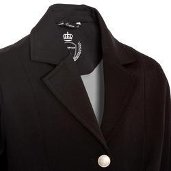 Wedstrijdjasje Classic voor kinderen ruitersport zwart - 10570