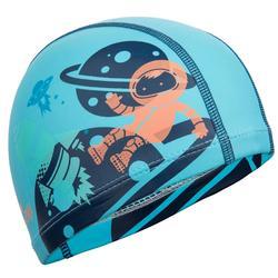 矽膠網眼印花泳帽500,S號 - 星際圖案