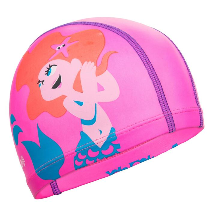矽膠網眼印花泳帽,S號 - Mar*