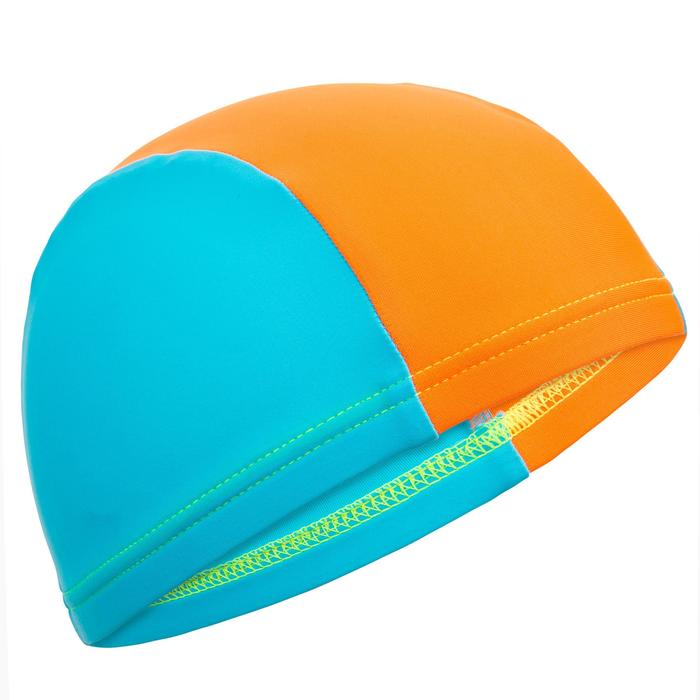 BONNET DE BAIN MAILLE BEBE BLEU ORANGE