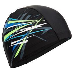印花網眼泳帽 尺寸 L - Tina 黑色 綠色 CN