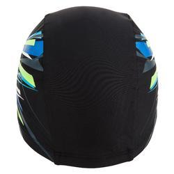 網眼印花泳帽,S號 - Tina黑色綠色