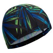 Črna in zelena mrežasta plavalna kapa s potiskom (velikost L)