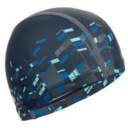 Silikonska mrežasta plavalna kapa s potiskom 500 (velikost L)