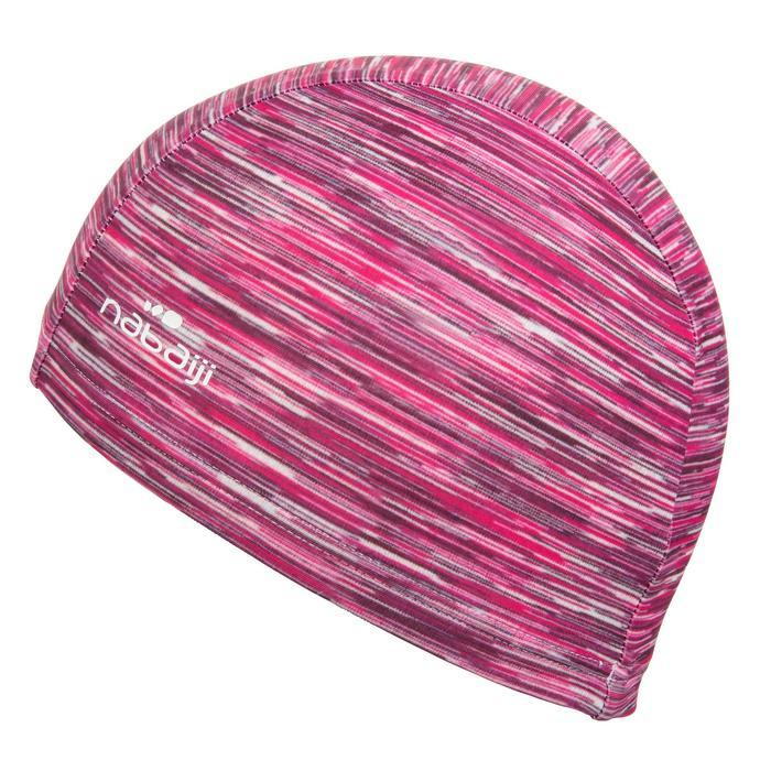 Stoffen badmuts met print maat L Wolly roze