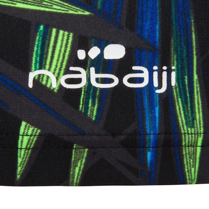 Stoffen badmuts met print maat L Allopi zwart/groen