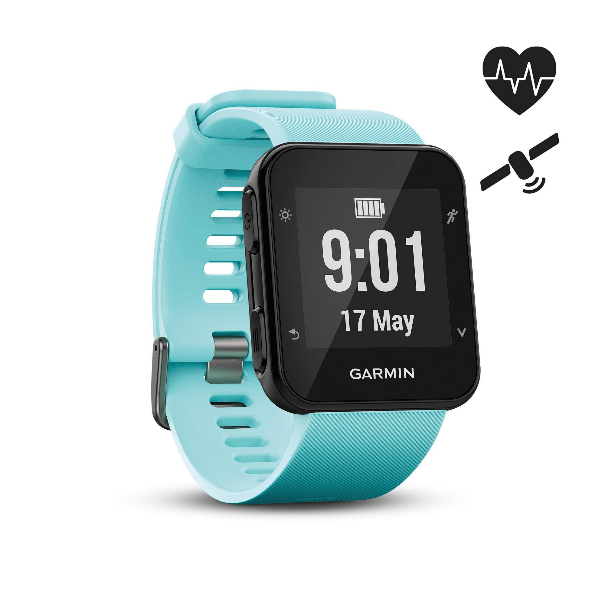84cd52d90d20 Reloj GPS Pulsómtro Muñeca Running Garmin Forerunner 35 Verde Agua Garmin