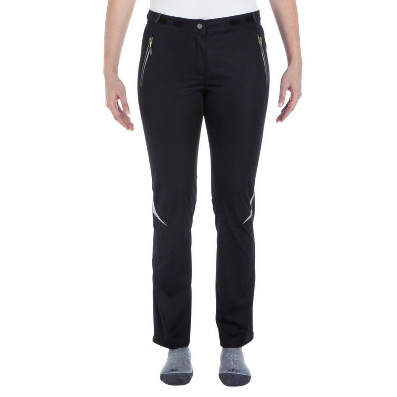 pantalon de ski de fond coupe vent femme noir decathlon. Black Bedroom Furniture Sets. Home Design Ideas