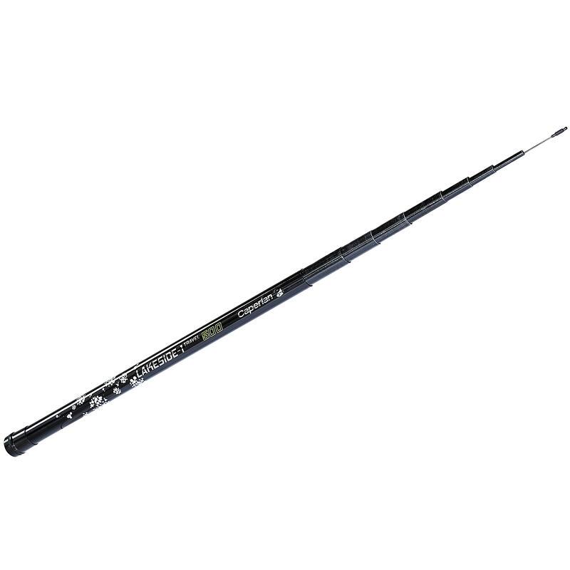 Canne de 5m pour la pêche au coup télescopique LAKESIDE -1 TRAVEL 500