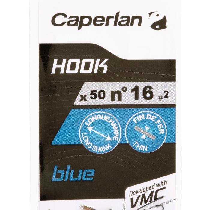Enkele haak blauw/blauw Caperlan voor vissen met de vaste lijn