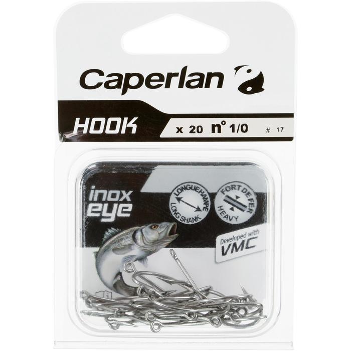 Enkele haak zeehengelen Hook Inox Eye