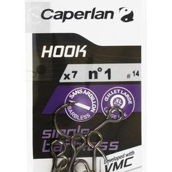 HAMEÇON SIMPLE PÊCHE HOOK SINGLE BARBLESS