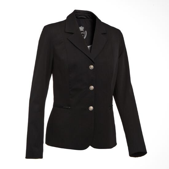 Wedstrijdjasje Classic voor dames, ruitersport, zwart - 10580