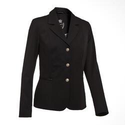 Wedstrijdjasje voor dames Comp500 zwart