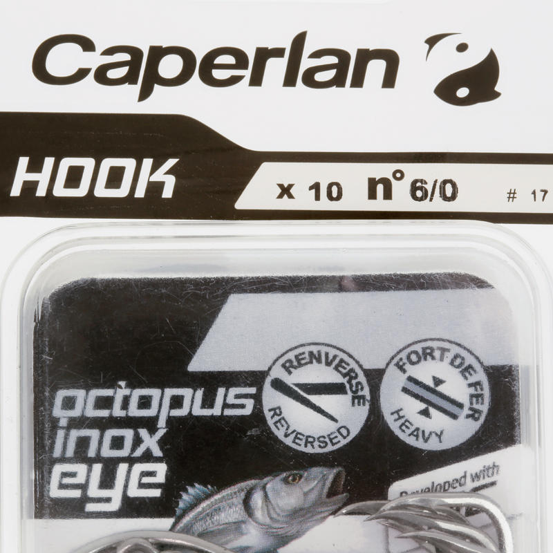 Hameçon simple pêche en mer HOOK INOX OCTOPUS EYE