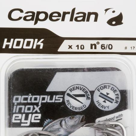 Sea fishing eyed hook OCTOPUS STAINLESS STEEL EYE HOOK