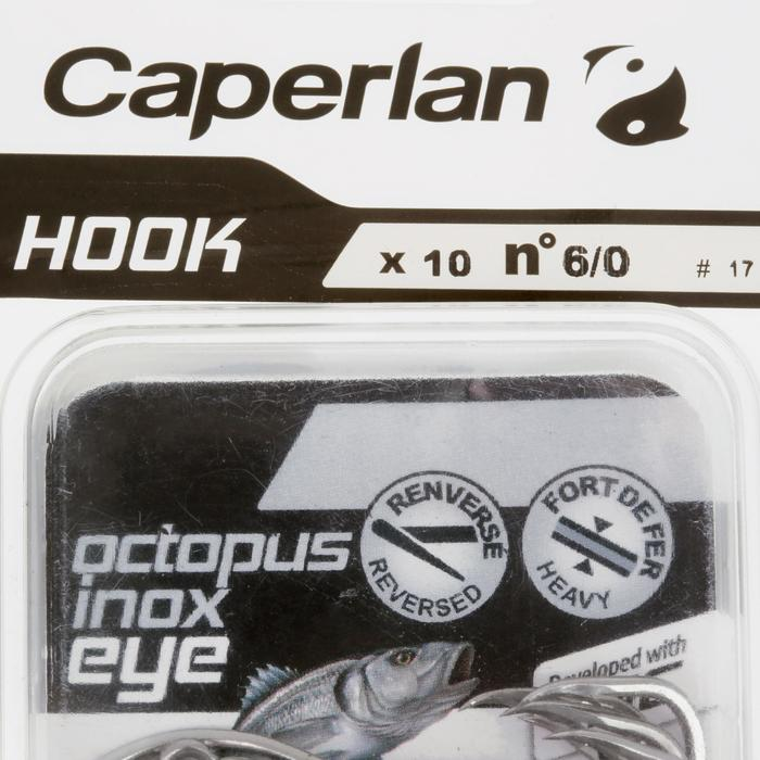 HAMEÇON SIMPLE PÊCHE HOOK INOX OCTOPUS EYE - 1058008