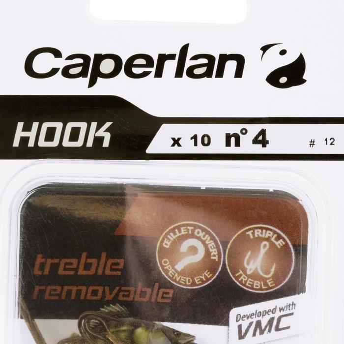Driedubbele vishaak Hook Triple Removable