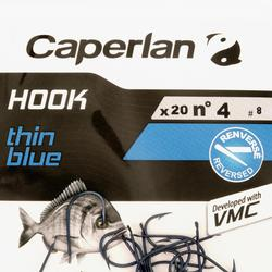 Enkelvoudige vishaak zeehengelen HOOK THIN BLUE