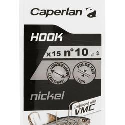Angelhaken Stippangeln Nickel 15 Stk.