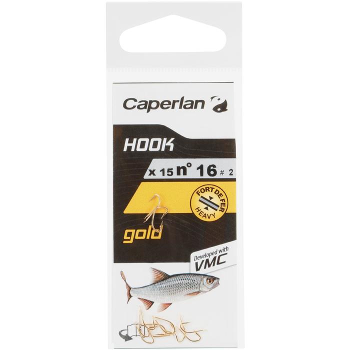 HAMEÇON SIMPLE PÊCHE HOOK GOLD - 1058108