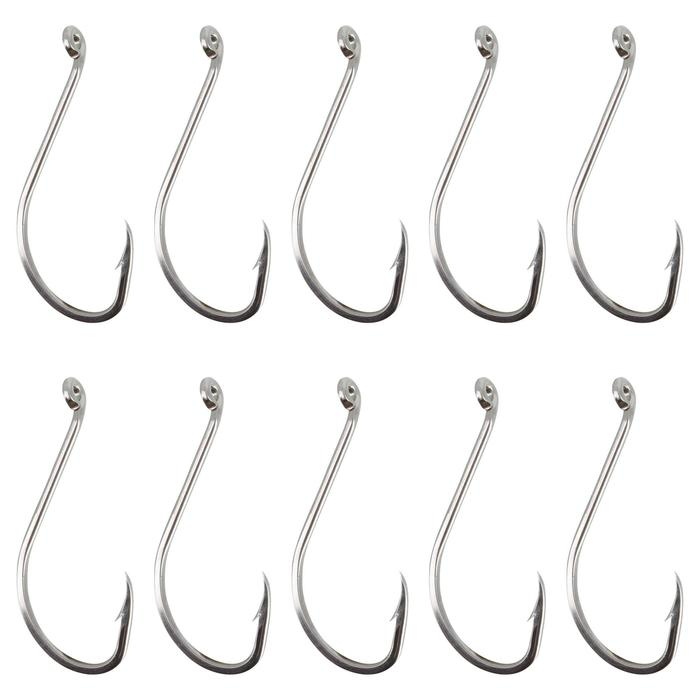 Enkele vishaak Hook Inox Octopus Eye