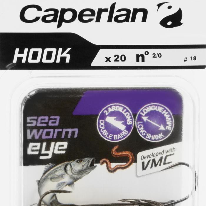 HAMEÇON SIMPLE PÊCHE HOOK SEA WORM EYE