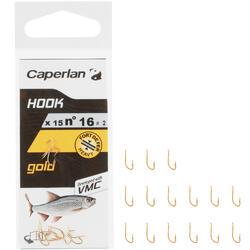 ANZUELO SIMPLE GOLD / DORADO CAPERLAN PARA LA PESCA AL COUP