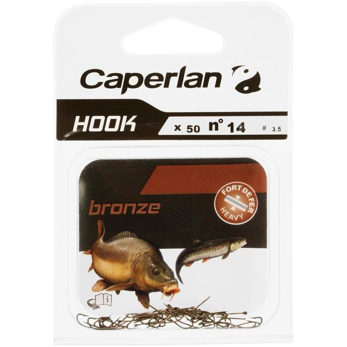 ANZUELO SIMPLE PESCA HOOK BRONCE