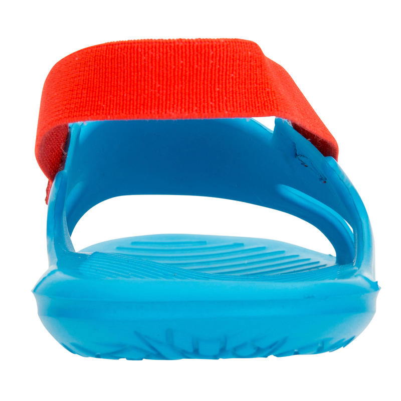 BOY'S SLAP 100 POOL SANDALS - BLUE RED