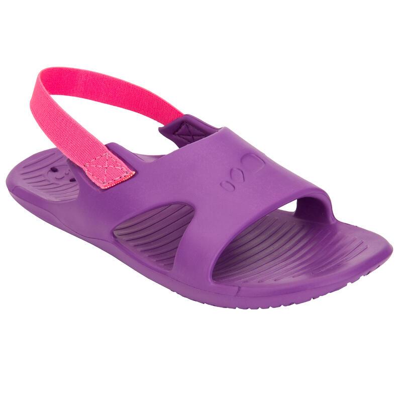 Girls' Pool Sandals 100 - Purple