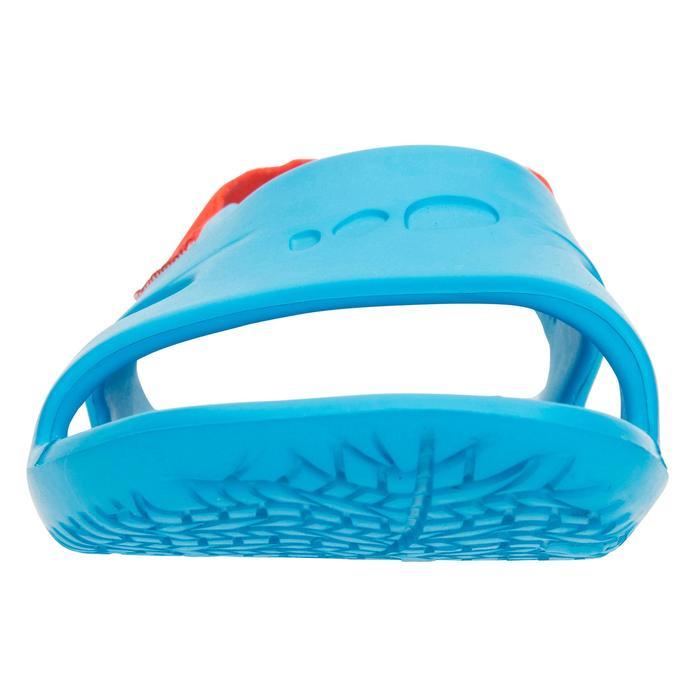 男童款泳池涼鞋SLAP 100-藍紅色
