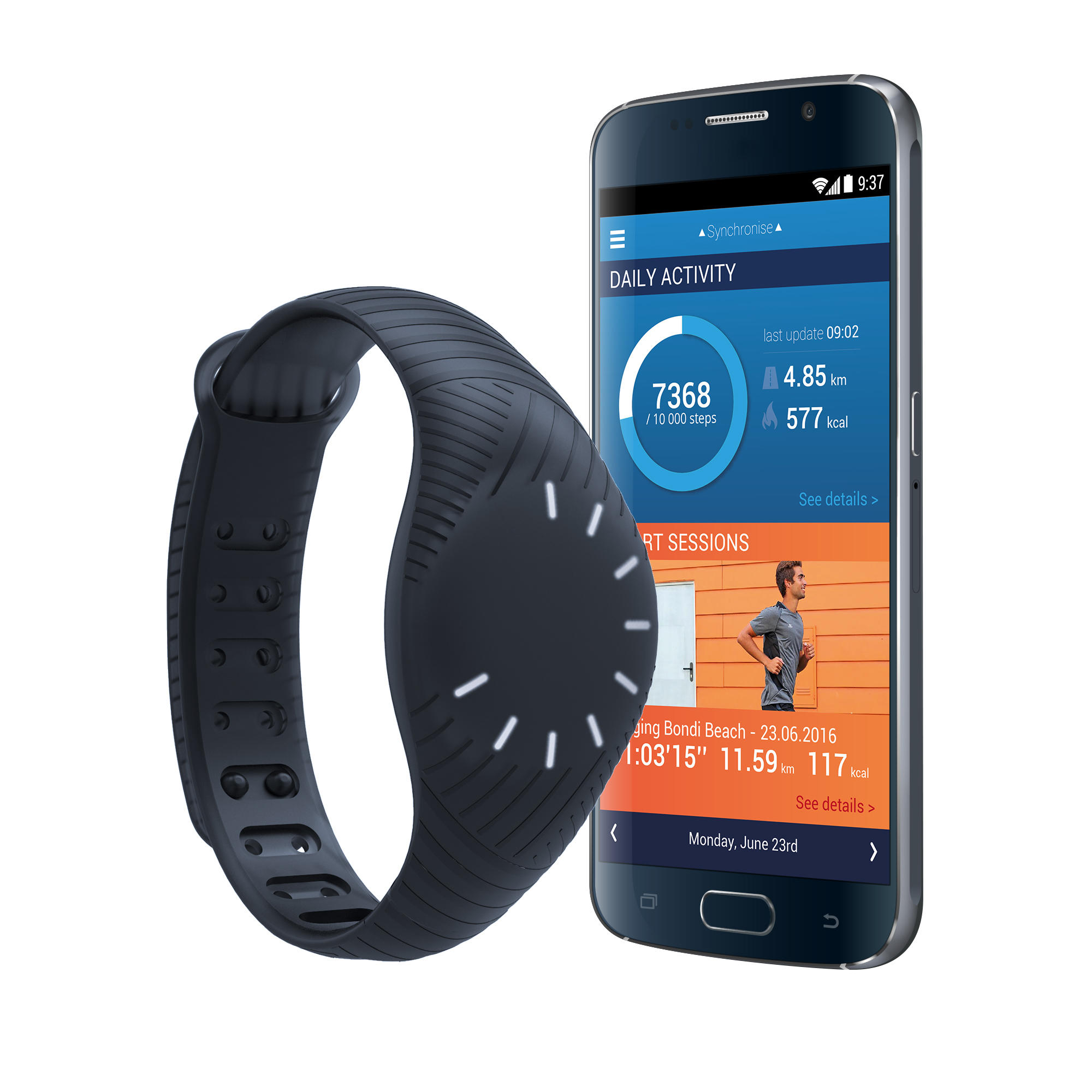 ONcoach 100 CN connected wristband - Black