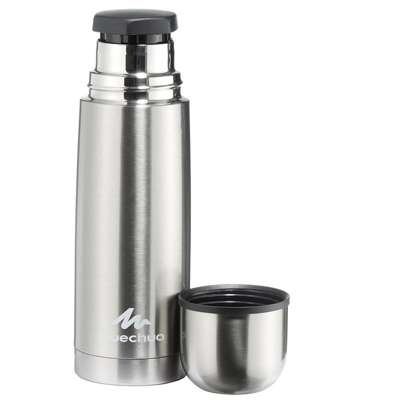 Stainless Steel Insulated Hiking Bottle - 0.4 L, Metal