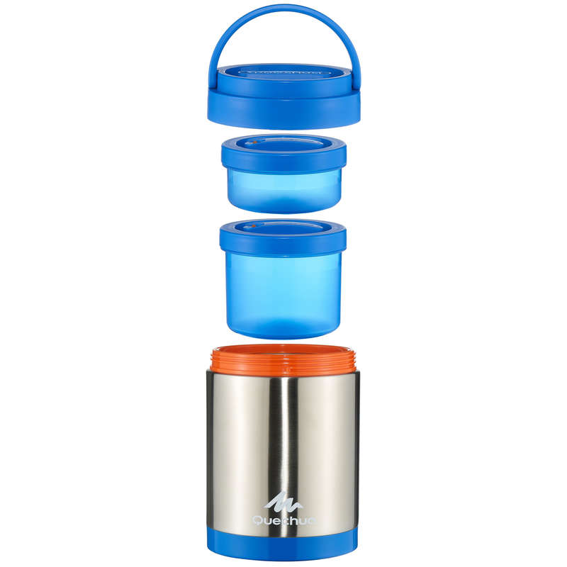 HIKING INSULATED BOTTLES, BOXES Camping - Stainless isothermal box 2L QUECHUA - Camping Cooking Equipment