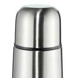 Thermosfles voor trekking rvs 0,7 liter metaalkleur